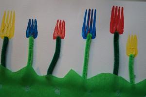 Blumenwiese basteln