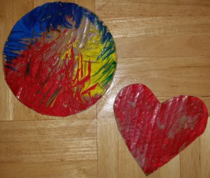 Basteln mit Kindern Kreis Herz