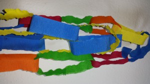 Papierkette girlande basteln