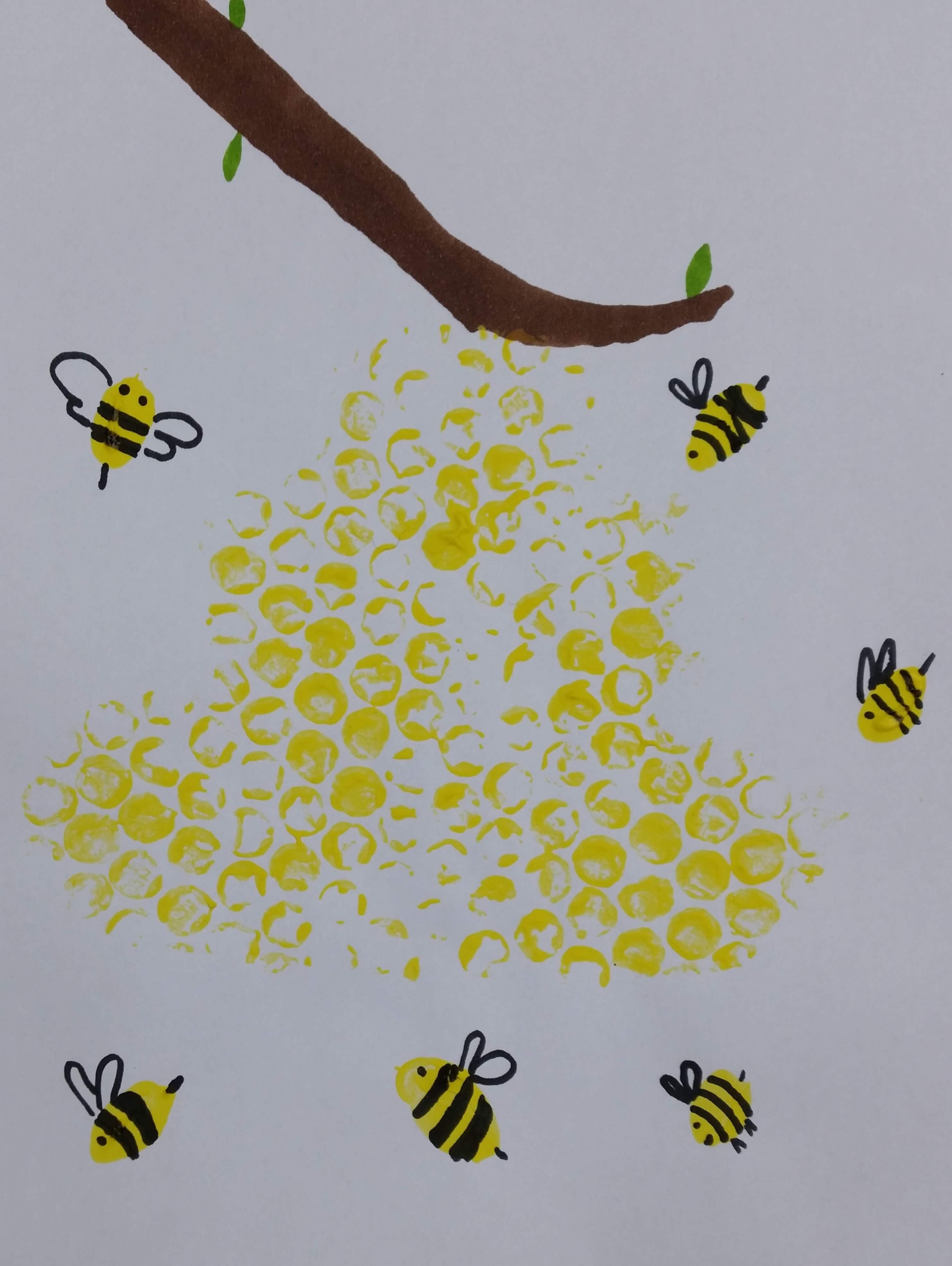 Arbeitsblatt Bienen Grundschule : Bienenstock und bienen malen basteln mit kindern