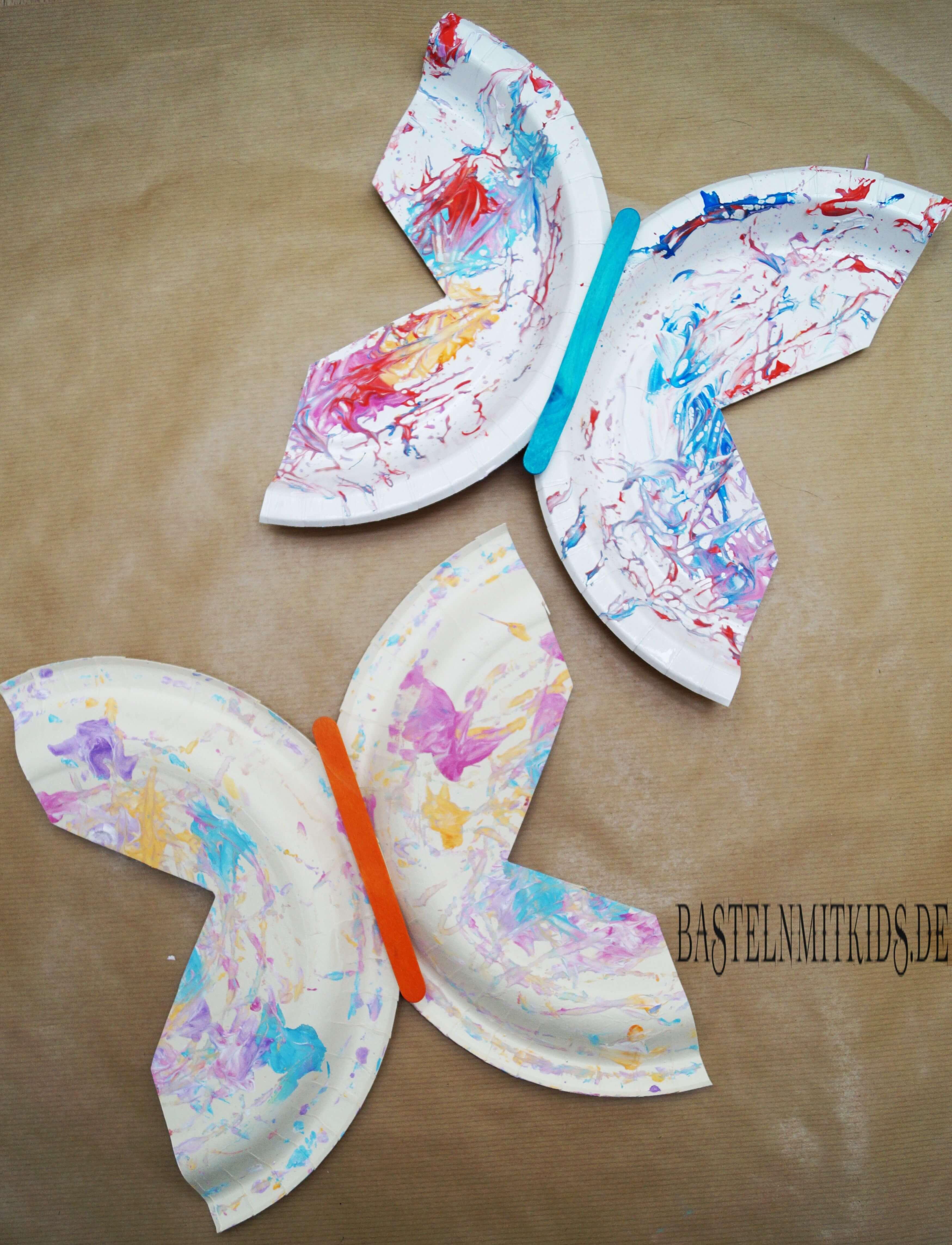 Farbenfrohen Schmetterling Basteln Basteln Mit Kindern