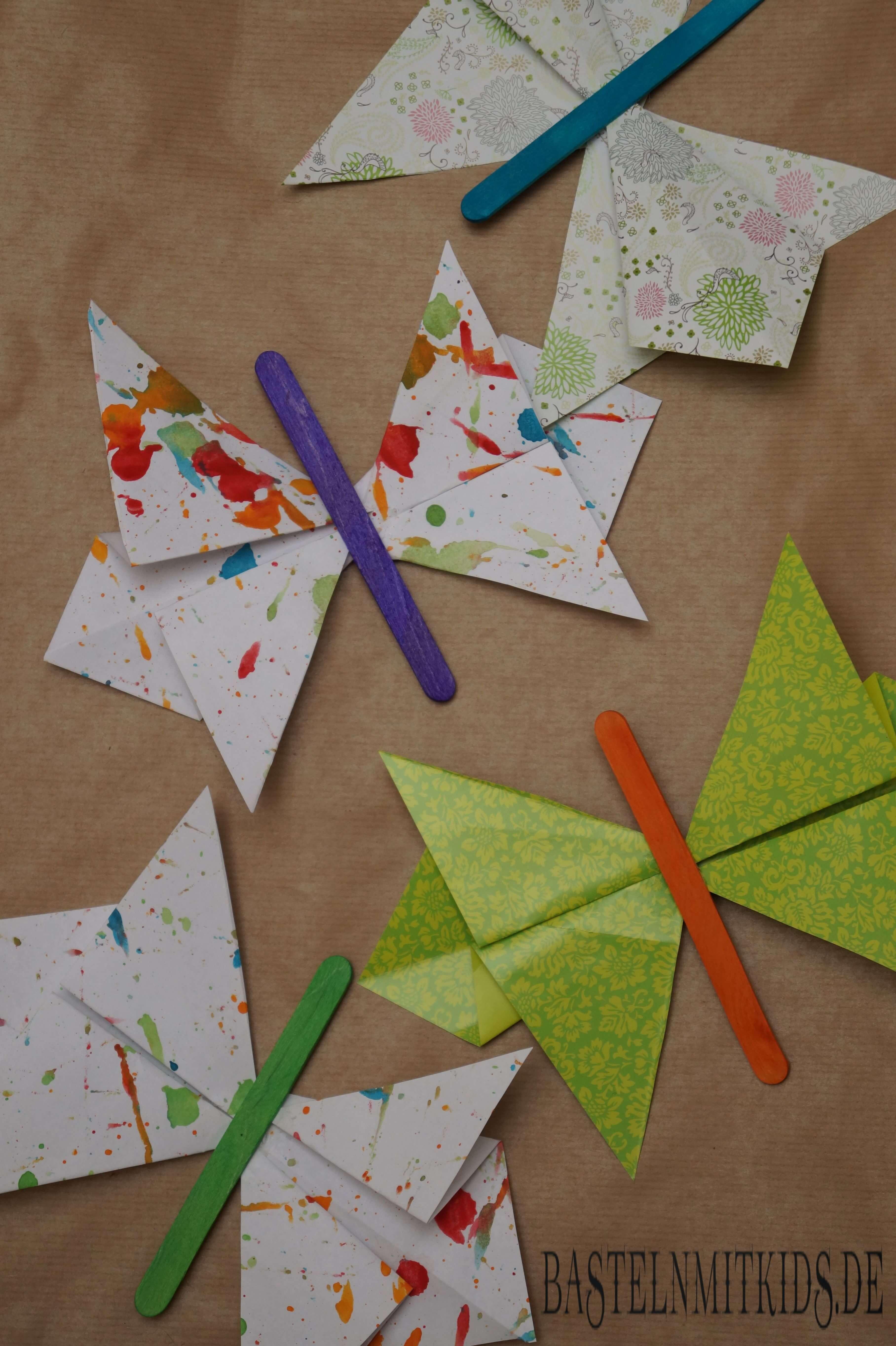 Schmetterling Falten Aus Papier Bastelnmitkids