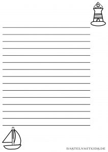 Schiff briefpapier