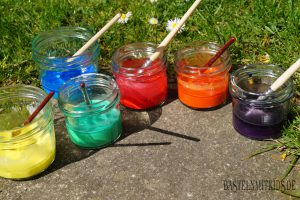 Bunte Kreidefarbe selber machen