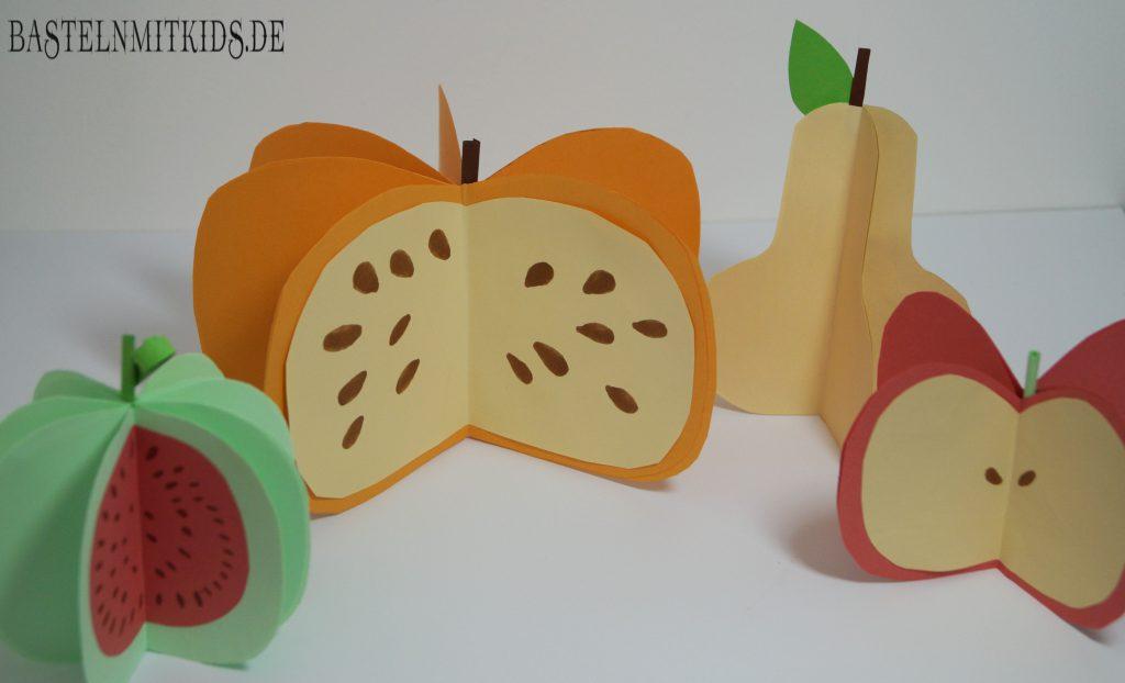 birne apfel melone oder k rbis basteln basteln mit kindern. Black Bedroom Furniture Sets. Home Design Ideas