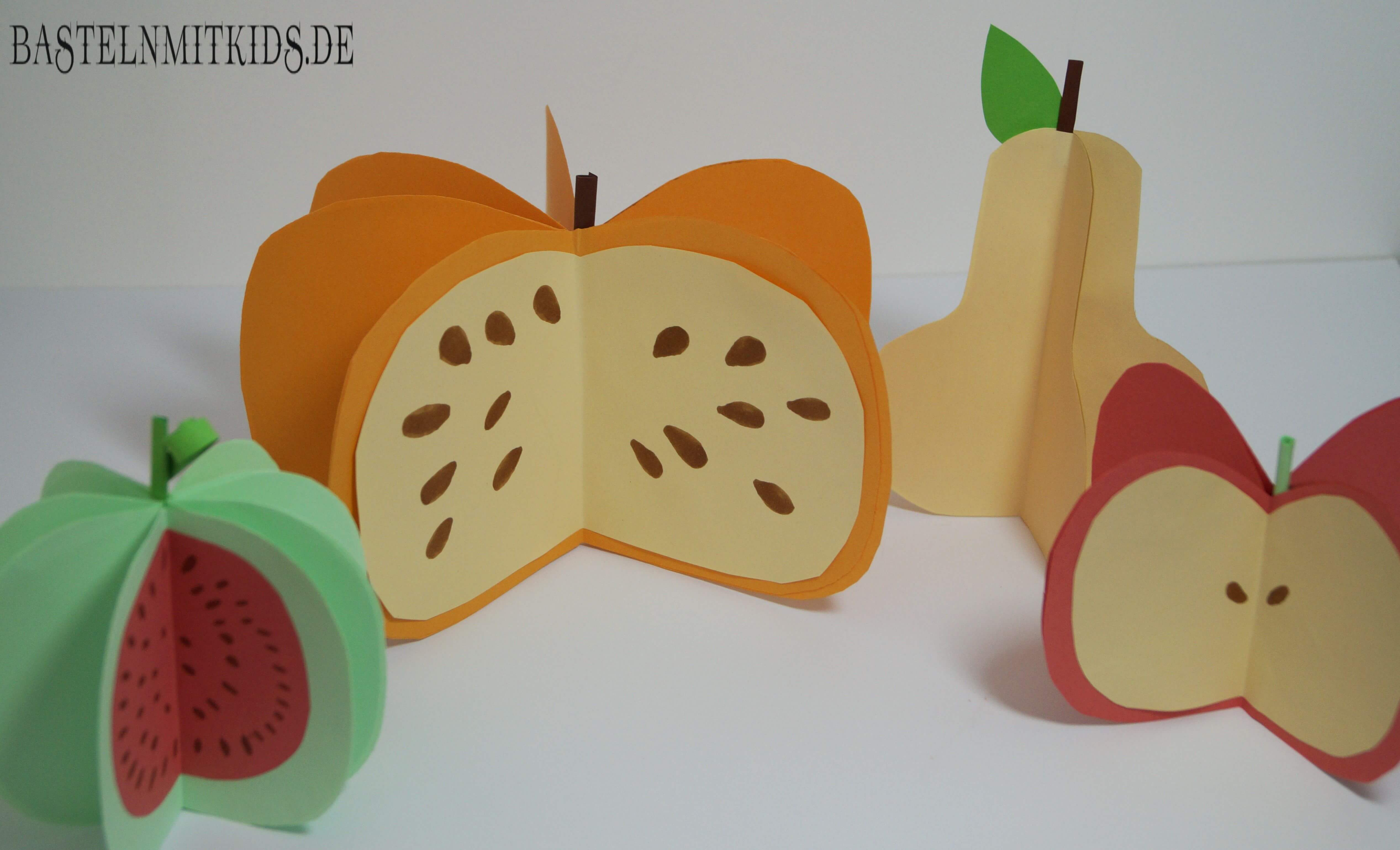 Apfel, Kürbis basteln