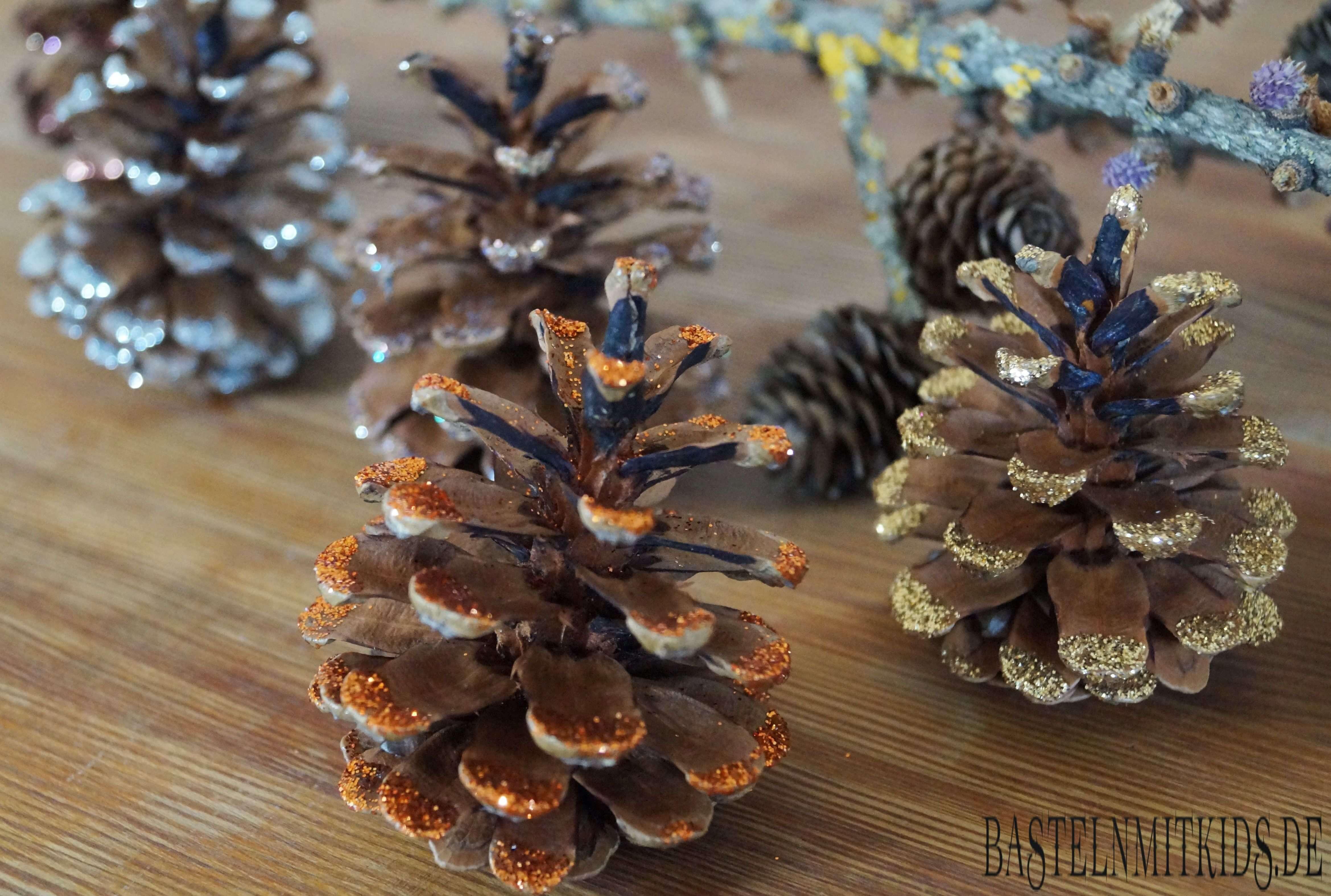 Basteln mit tannenzapfen basteln mit kindern - Basteln mit styroporkugeln weihnachten ...
