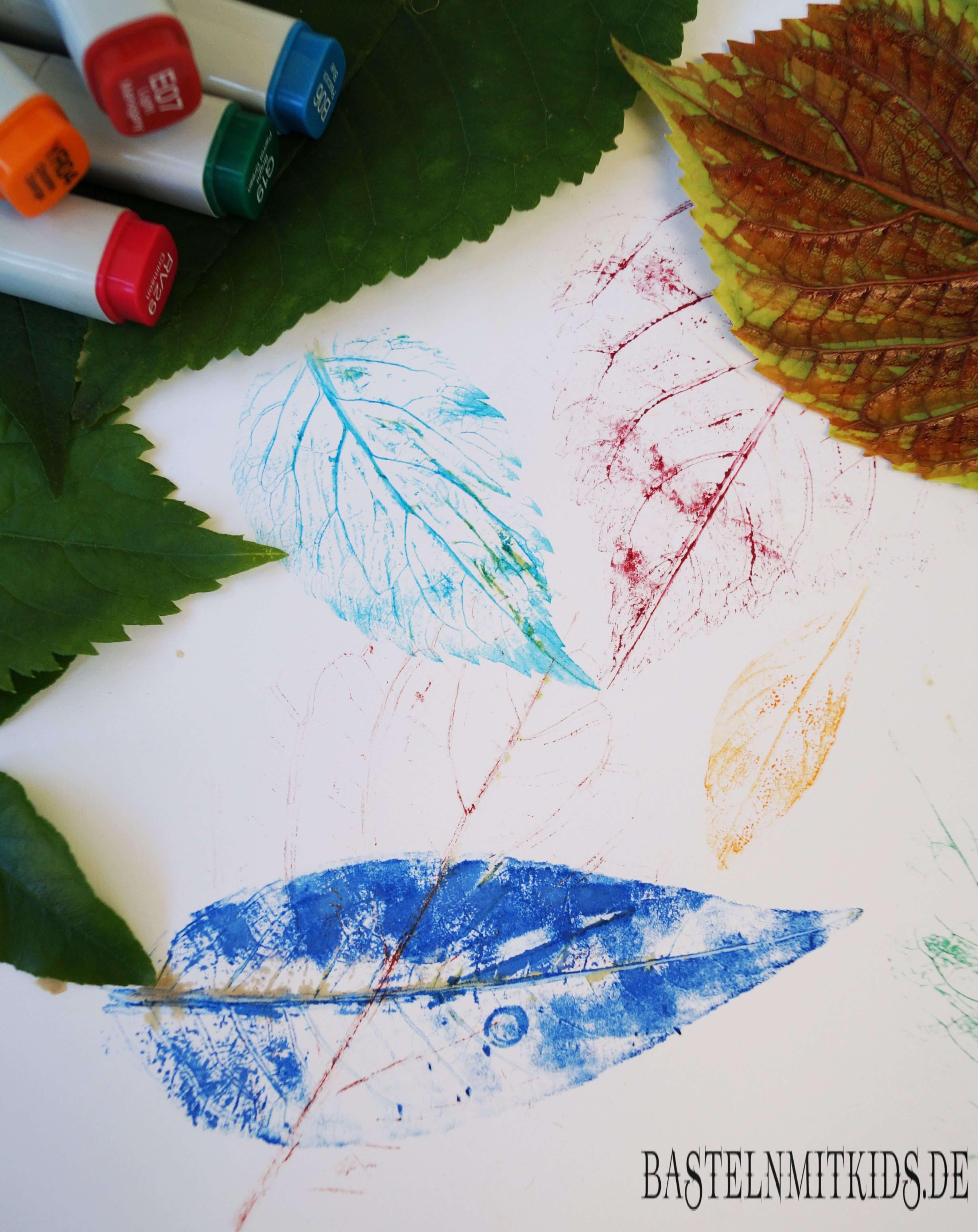 Einfache Blatter Bilder Malen Basteln Mit Kindern