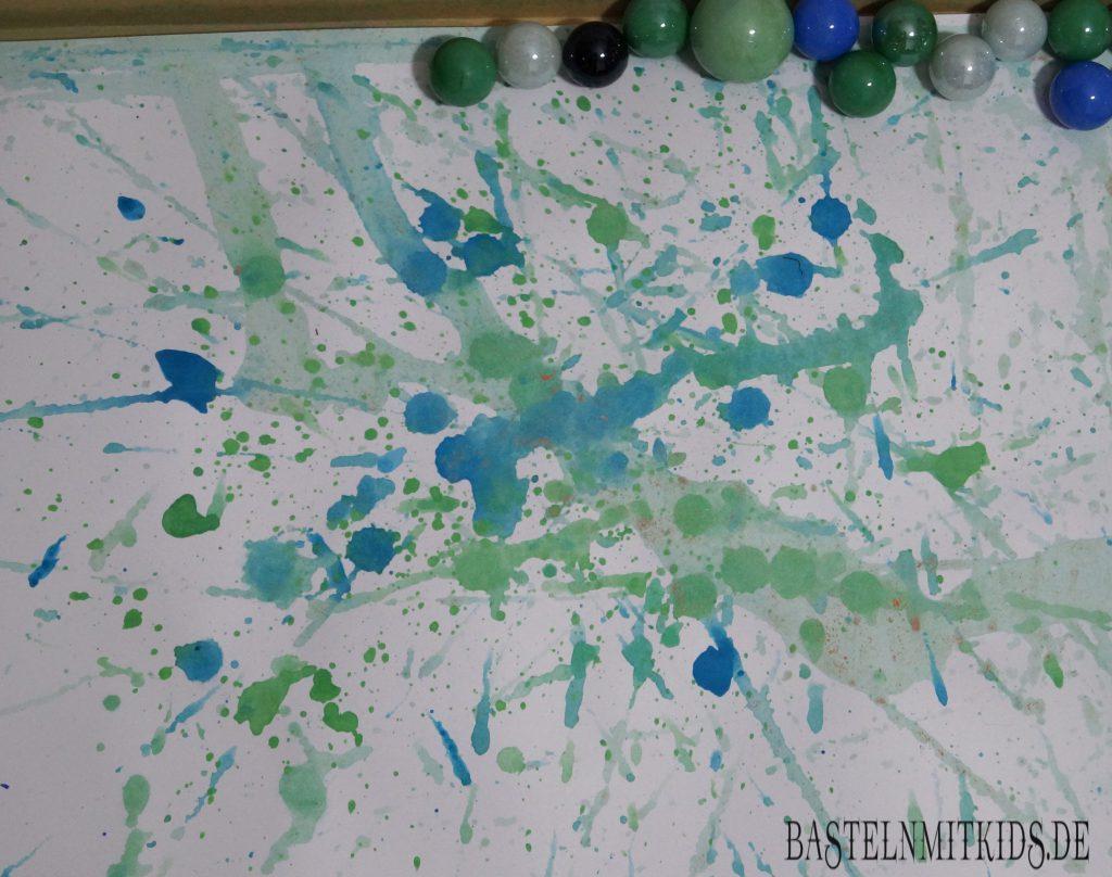 Malen mit Murmeln