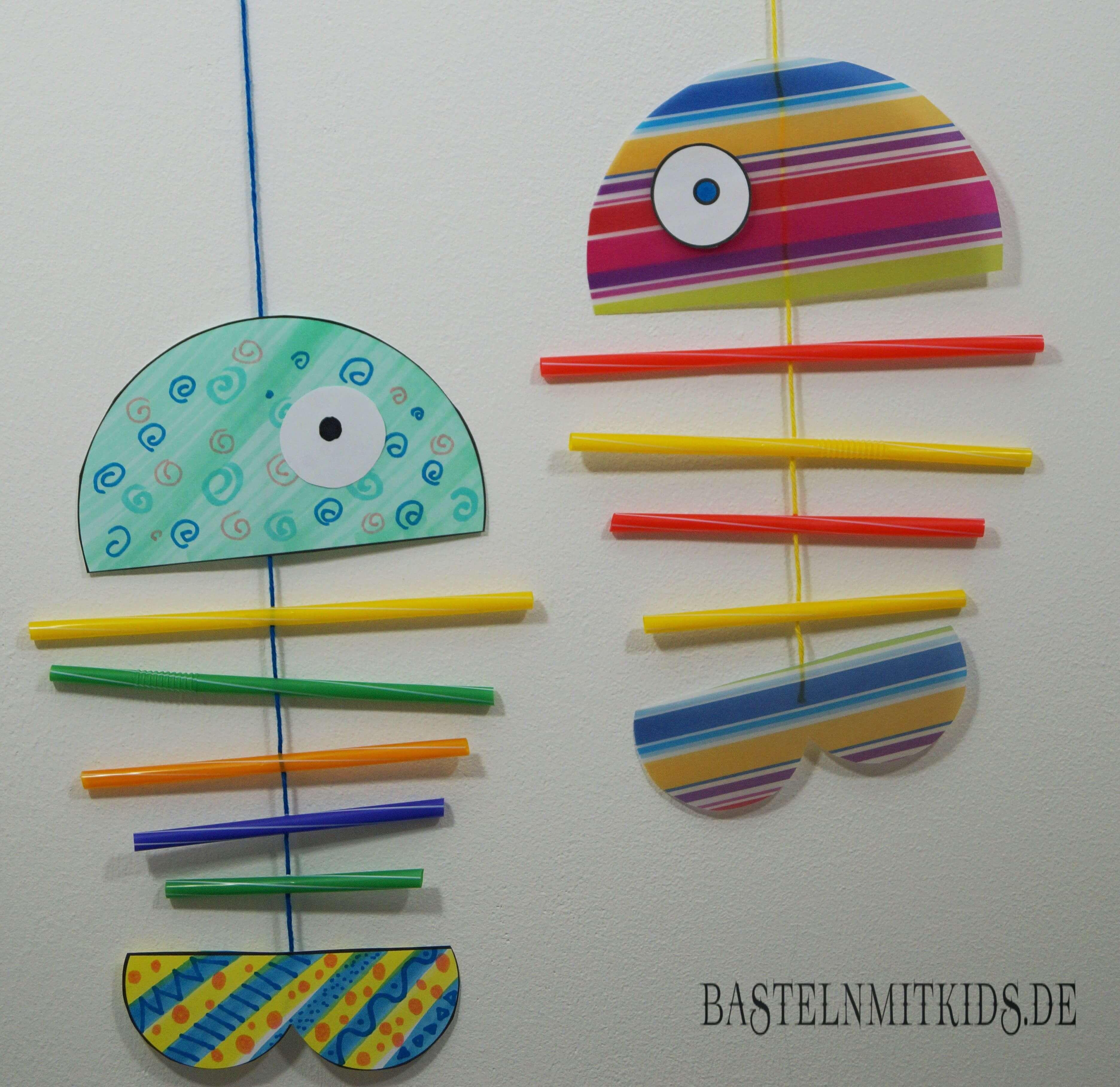 Fisch Basteln Für Ein Mobile Basteln Mit Kindern