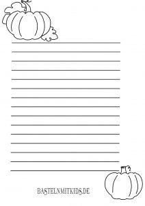 Kürbis Briefpapier
