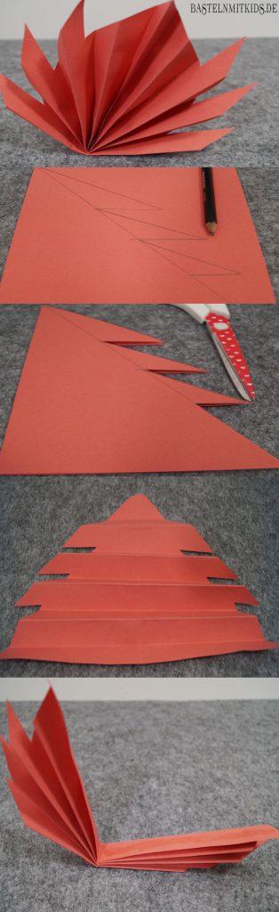 Papier falten rotes Blatt