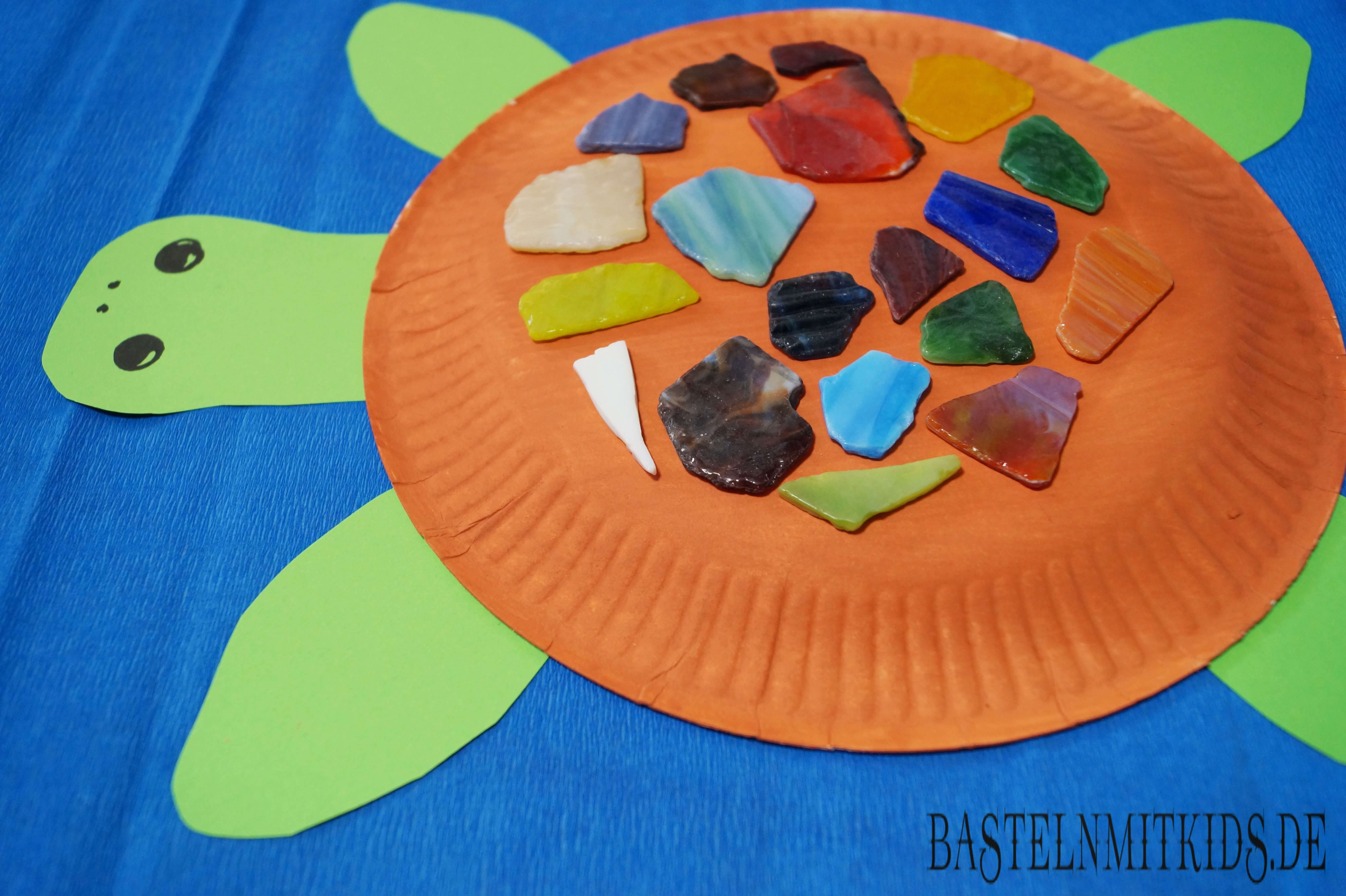 schildkröte basteln mit papierteller