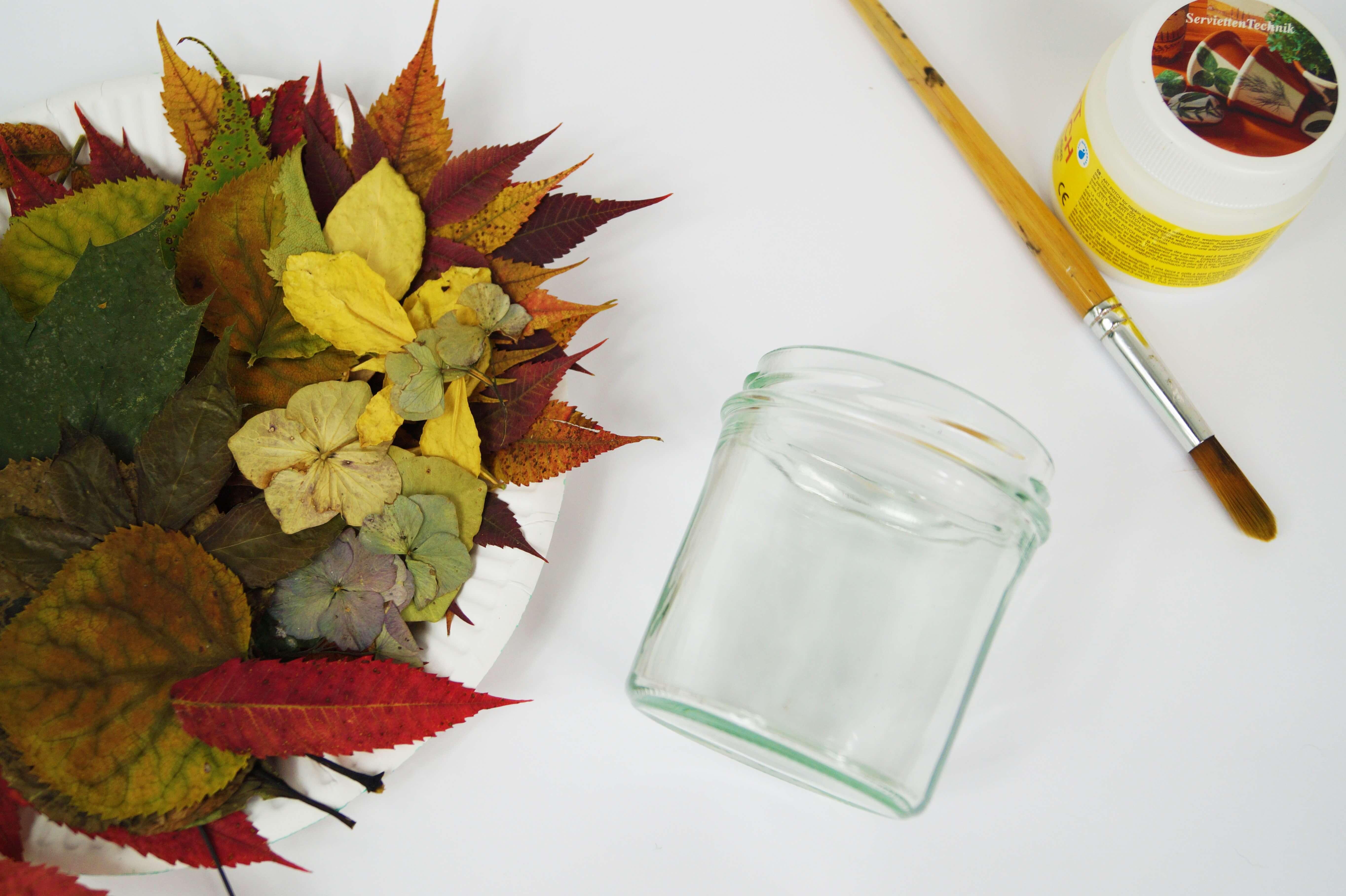 Ein Herbstliches Windlicht Basteln Basteln Mit Kindern