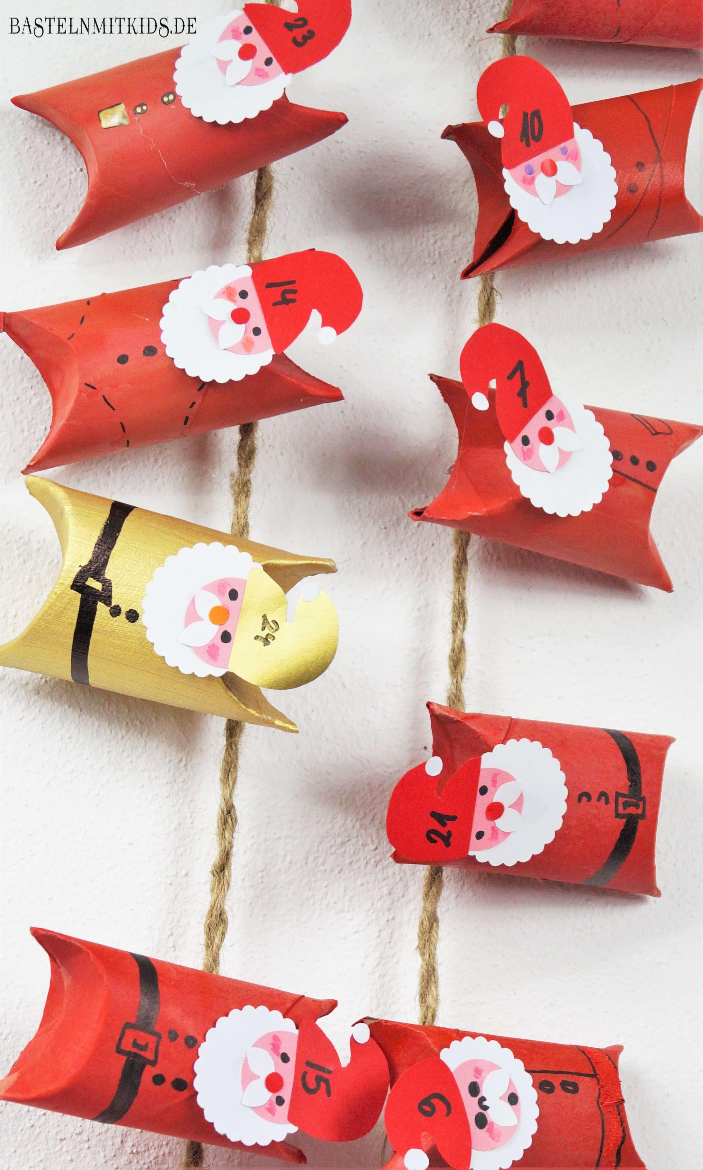 Basteln Mit Kindern Adventskalender Selber Basteln Mit Klopapierrollen