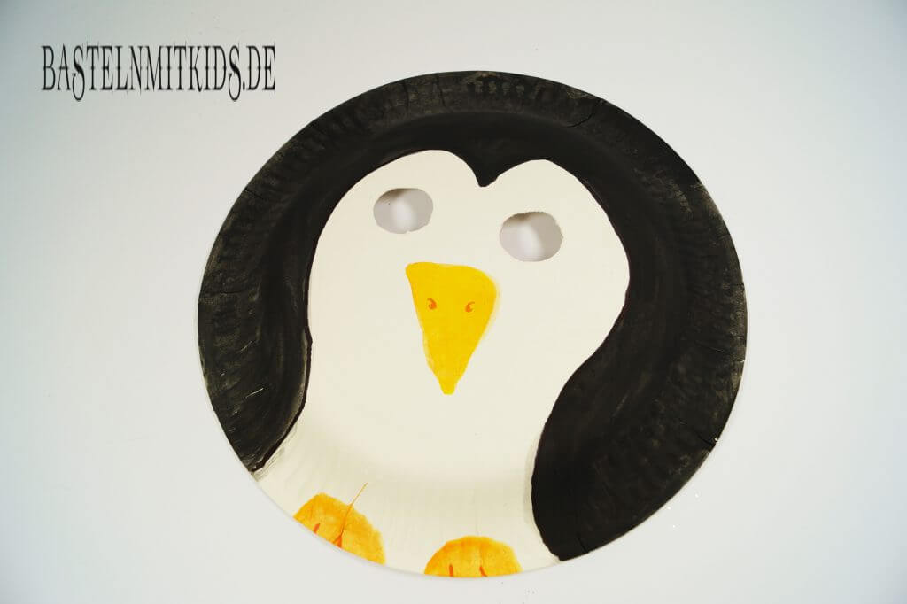 Pinguin maske selber basteln