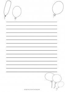 Luftballon briefpapier