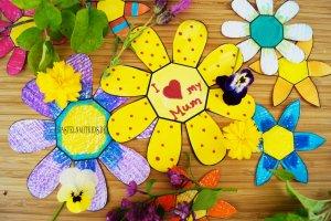 Blumen basteln mit Kindern