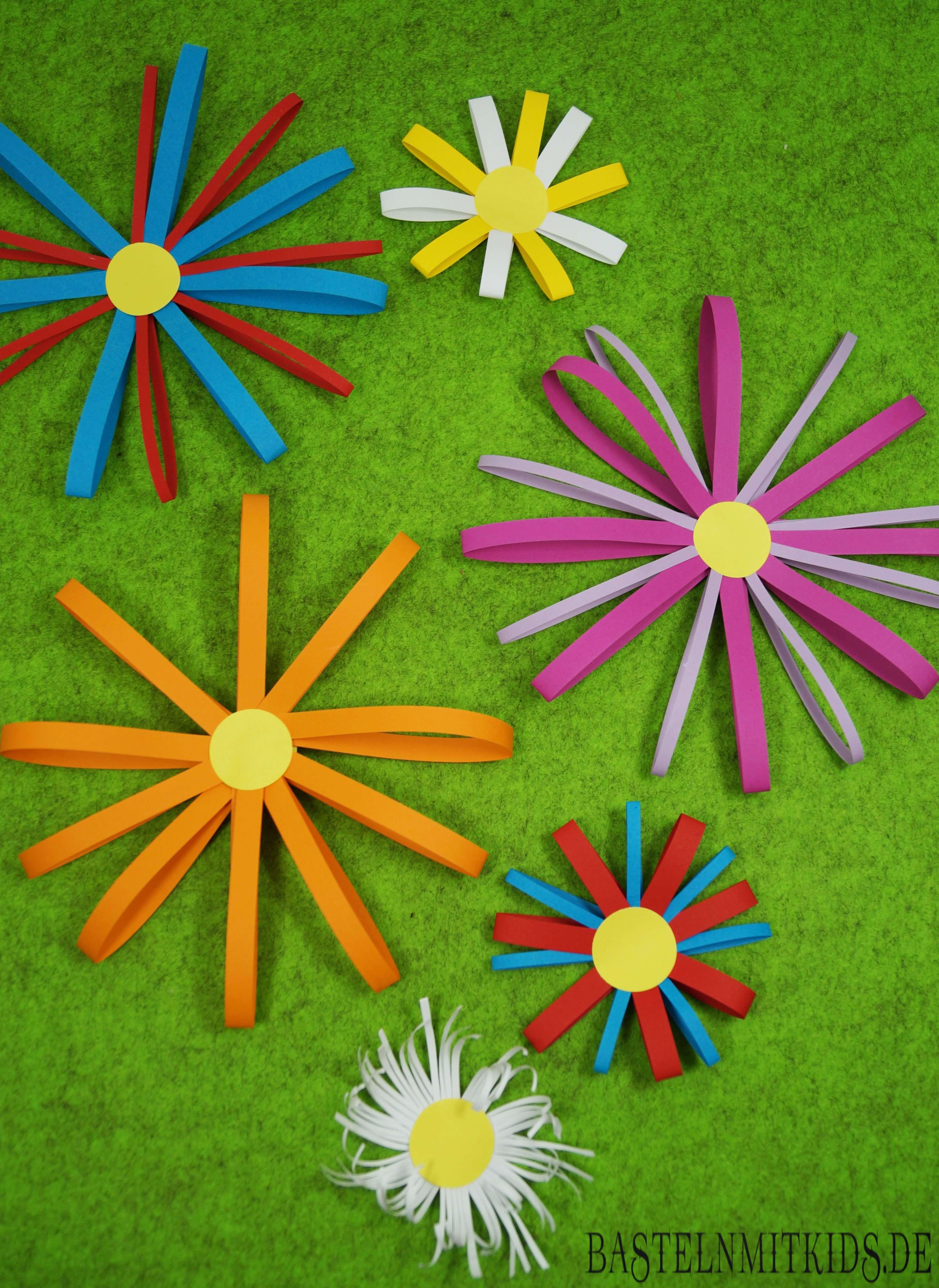 Papierblumen Selber Machen Mit Kindern Bastelnmitkids