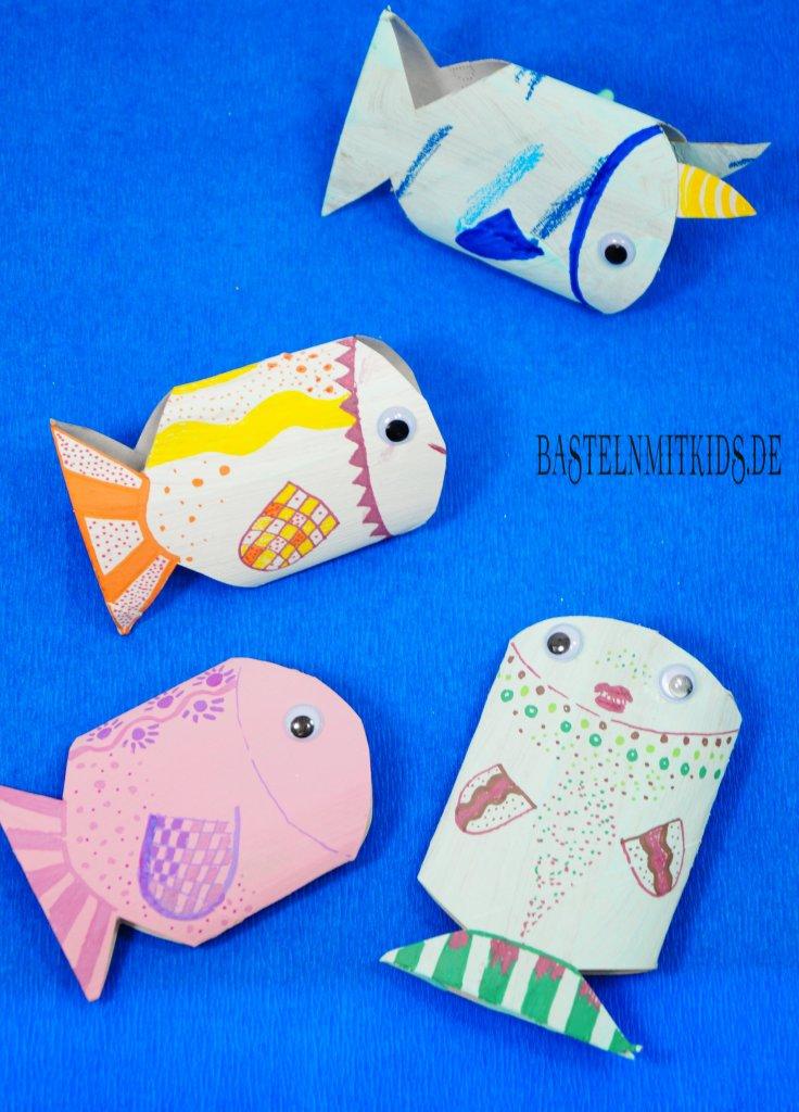 Fische Basteln Mit Kindern Und Kleinkindern Bastelnmitkids