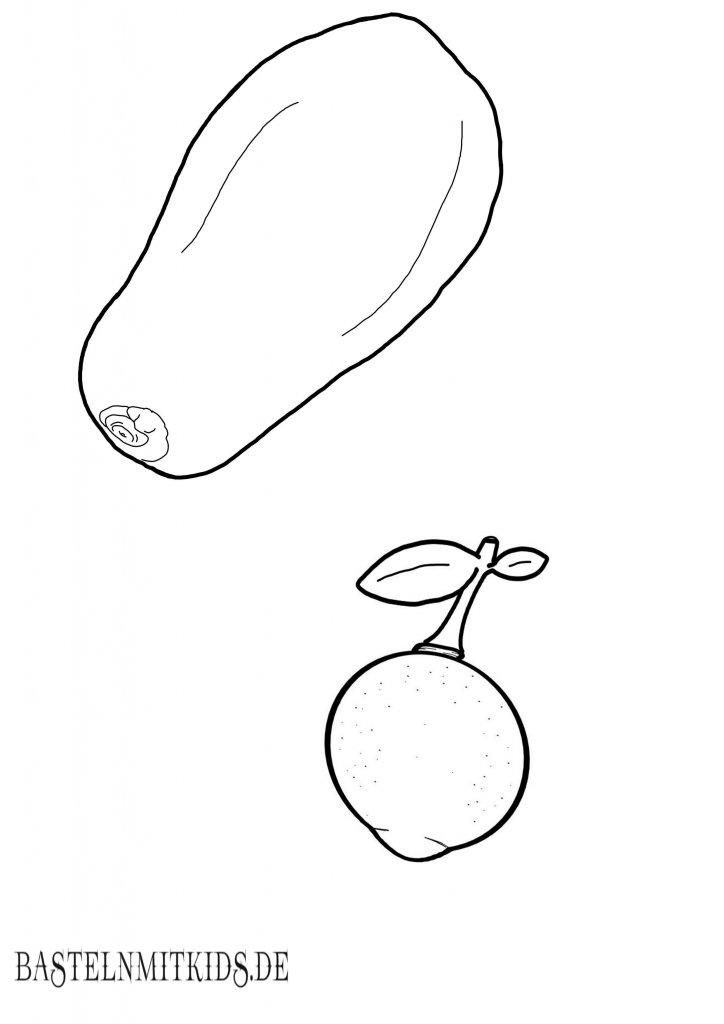 papaya und yuzu malvorlage