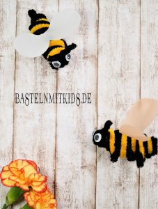 Basteln mit Kindern Bienen basteln