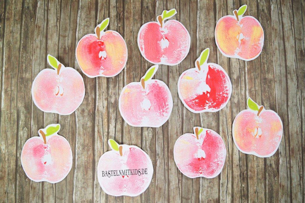 Erntedank im kindergarten basteln mit kindern for Apfel basteln herbst