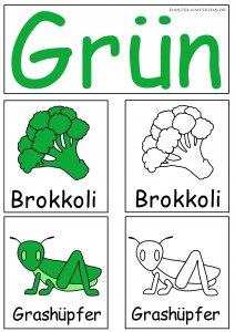 Grün farben lernen