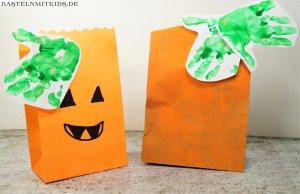 Kürbisse Kinder halloween basteln
