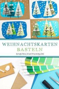 Weihnachtskarten Basteln Mit Kleinkindern.Winter Basteln Mit Kindern