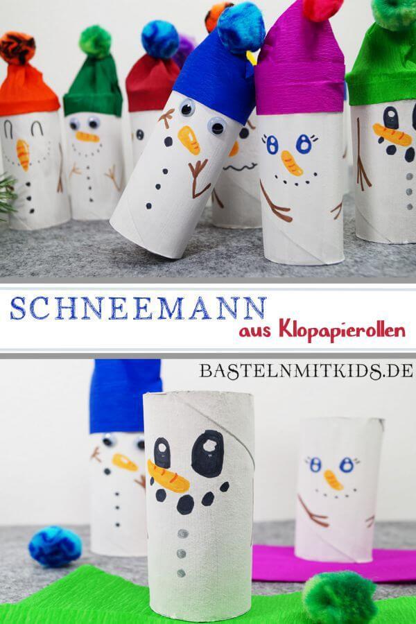 Weihnachten Basteln Mit Kindern Vorlagen: Schneemann Basteln Mit Kindern