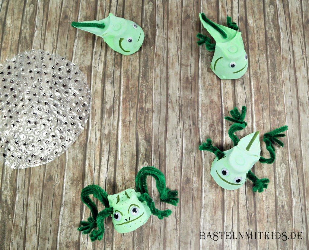 Frosch basteln kindergarten