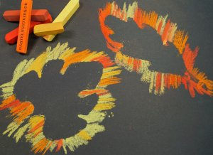 Herbstdekoration mit kindern absteln