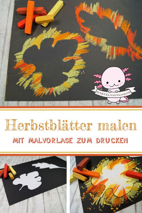 Einfache Blätter Bilder Malen Basteln Mit Kindern